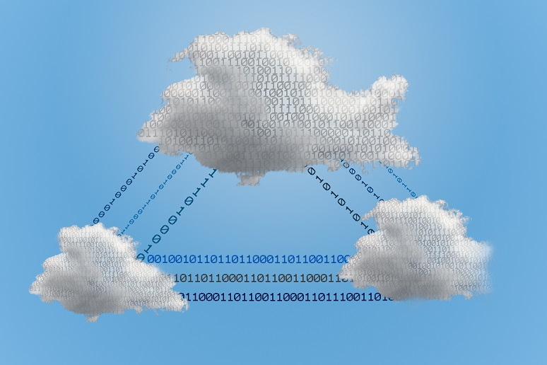 Data moving between multiple clouds