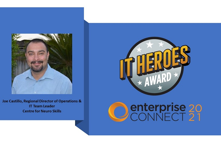 Picture of IT Heroes Award logo and recipient Joe Castillo