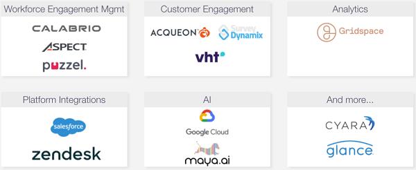 Slide with different Twilio Flex partners
