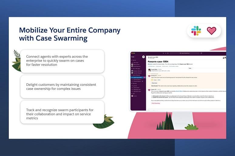 Slide about Salesforce-Slack case swarming