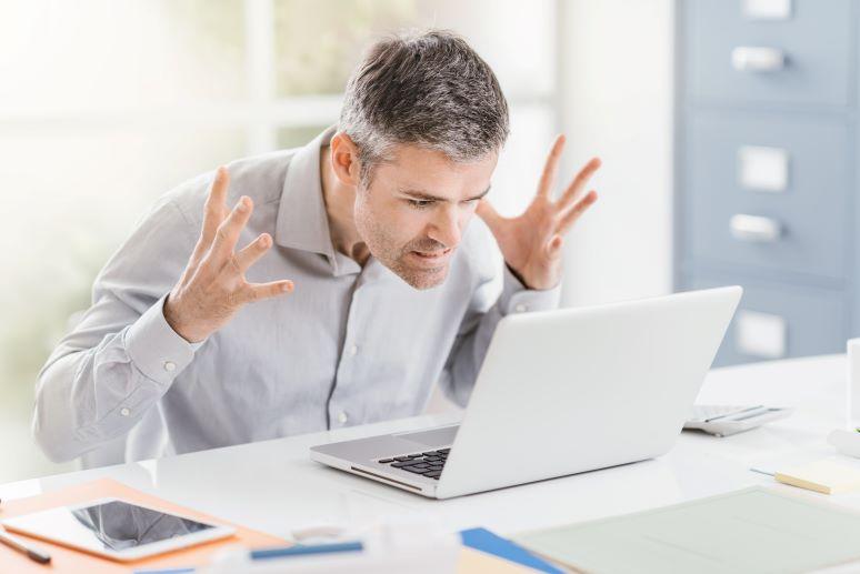 WFH user expressing frustration