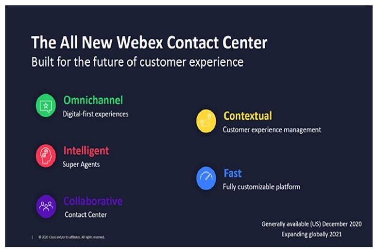 5 pillars of Cisco's new Webex Contact Center
