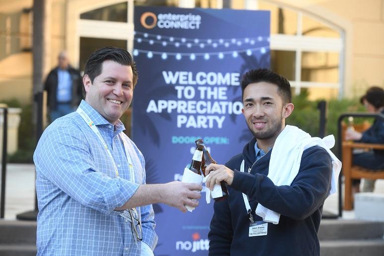 Attendees enjoying Enterprise Connect 2018
