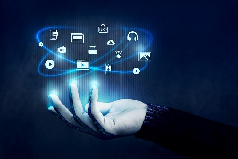 Illustration showing digital engagement concept