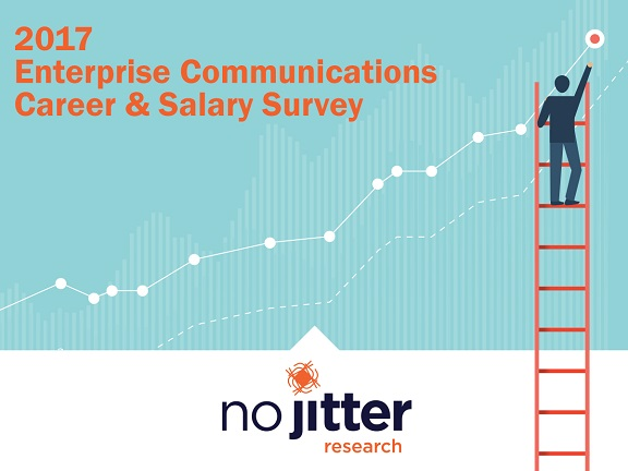No Jitter Research 2017 Enterprise Career & Salary Survey cover slide