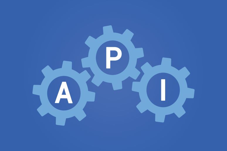 API spelled out in cogs