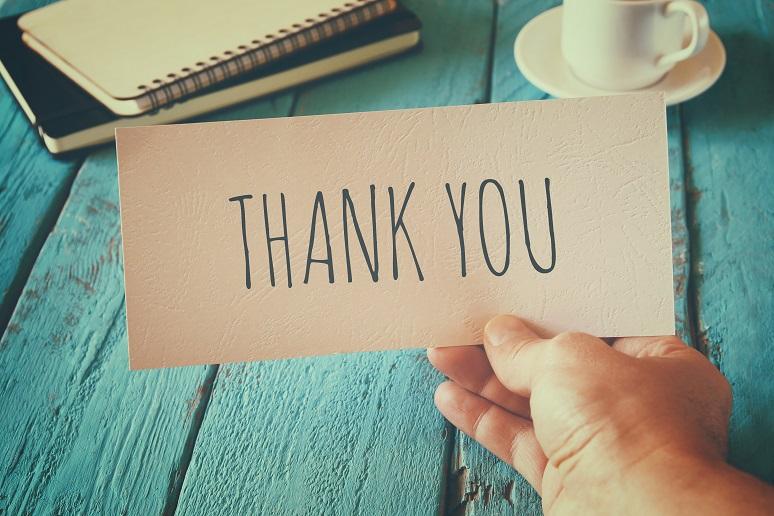 A sign of appreciation