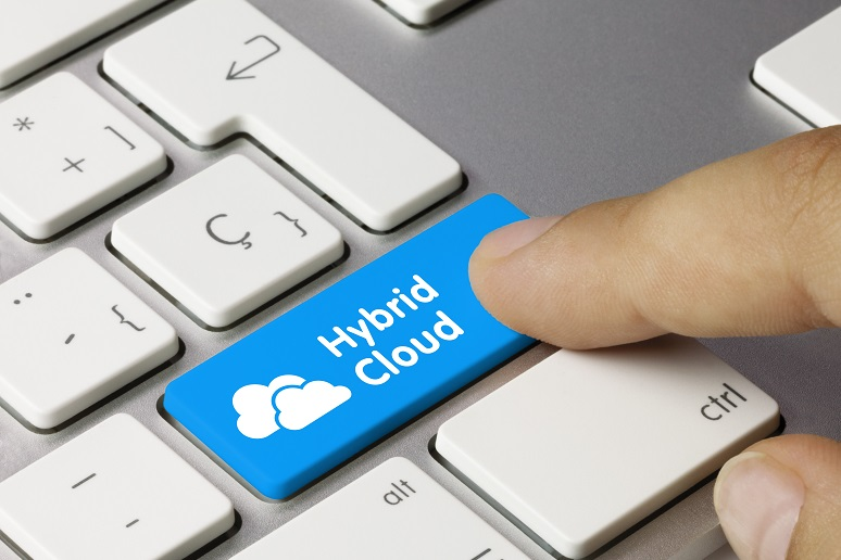 A hybrid cloud button