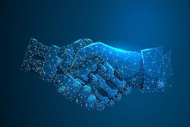 Handshake between digital and human