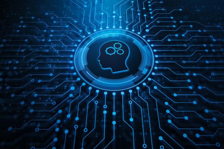 Illustration showing robotic process automation
