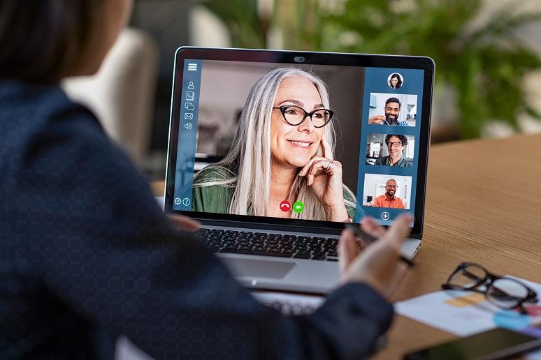 People in a video meeting