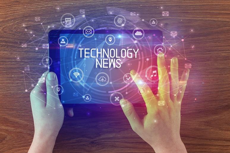 Technology news on a tablet