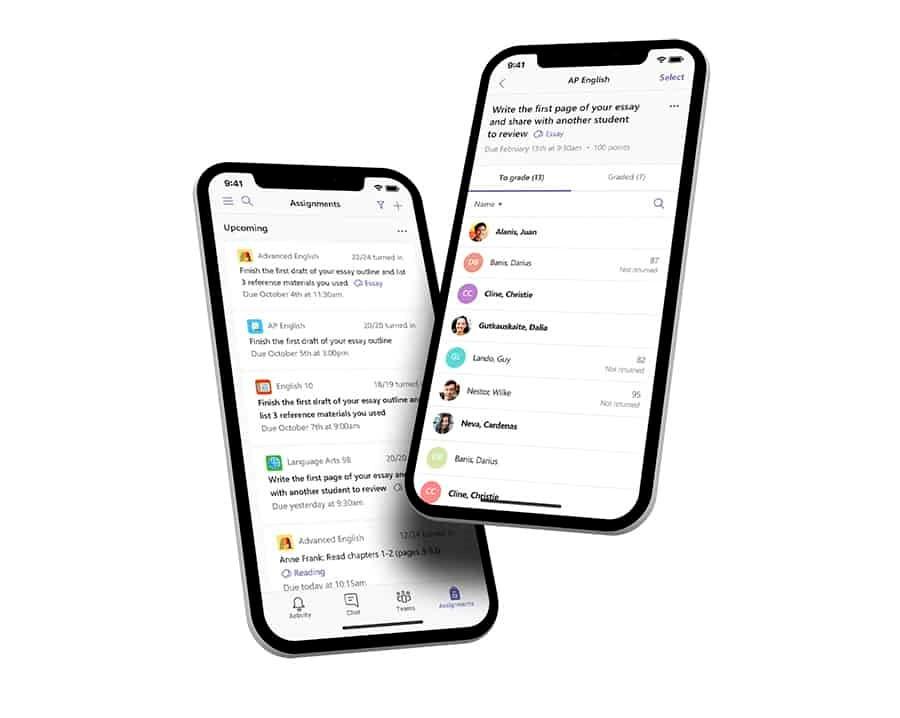 Microsoft Teams on mobile
