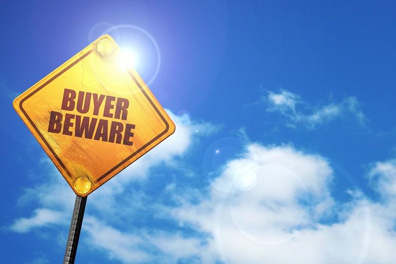 Photo of buyer beware sign