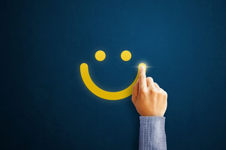 Picture of smiley face rating