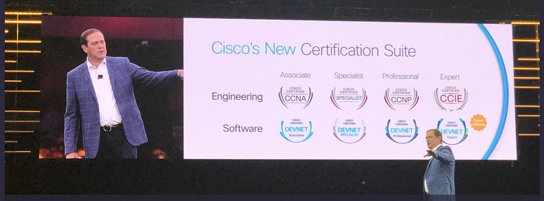 Cisco CEO Chuck Robbins introducing new software-based certifications