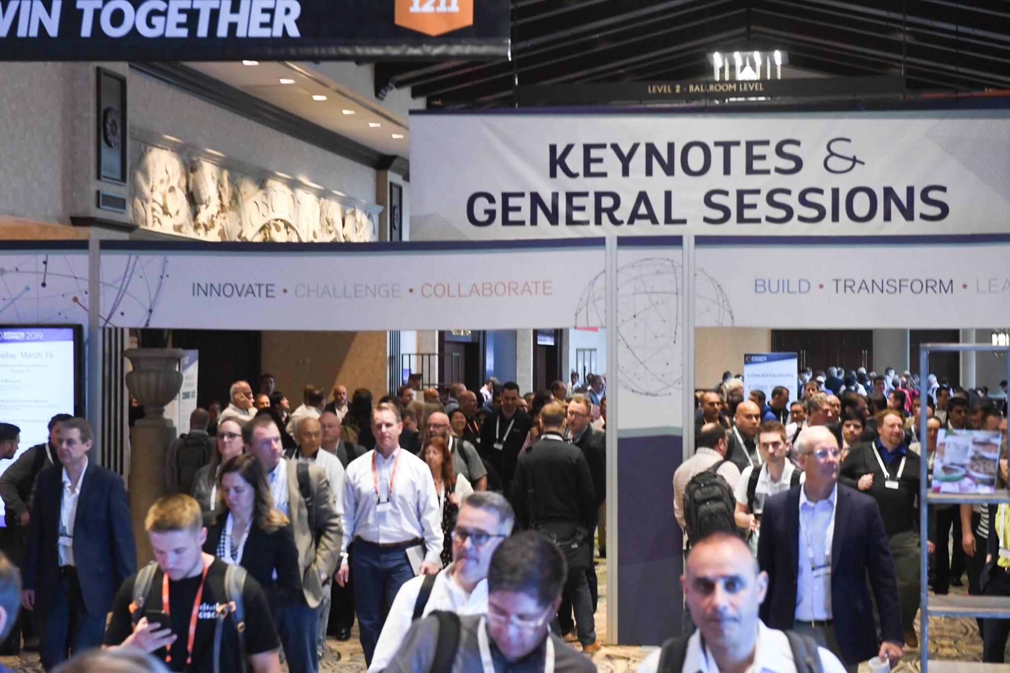 Enterprise Connect 2019 keynote hallway