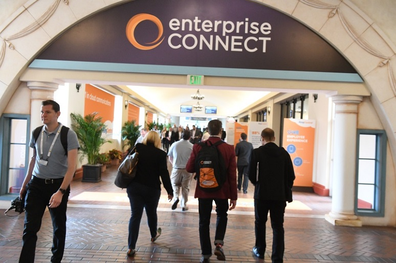 Picture of people entering the Enterprise Connect conference area