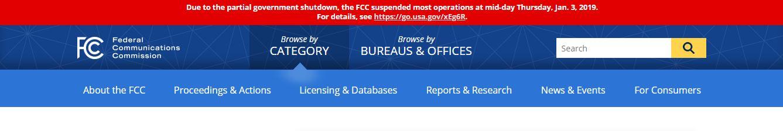 FCC homepage