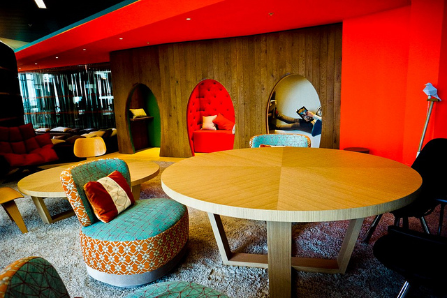 Google's London office interior of collaborative space