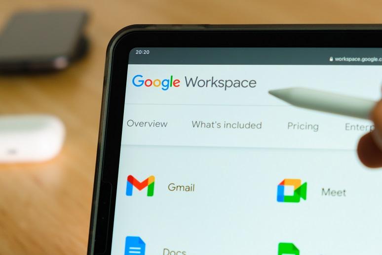 Google Workspace screen