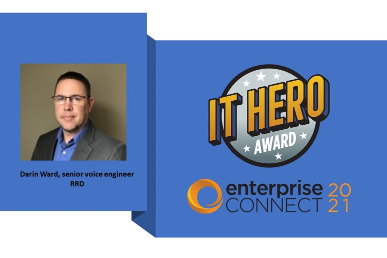 Photo of IT Hero Award winner Darin Ward with award logo