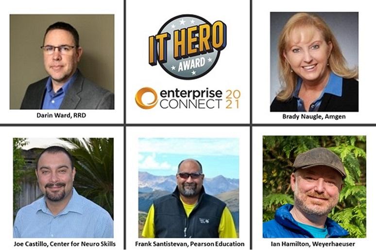 Photo of IT Hero Award winners