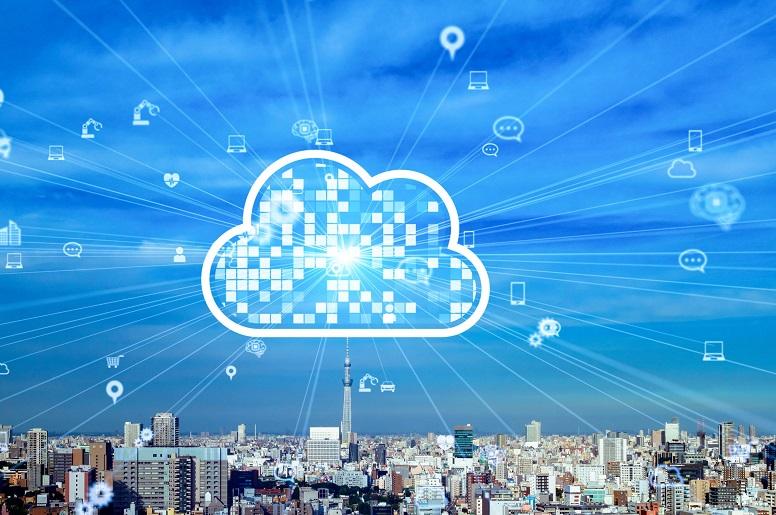 Cloud communications illustration
