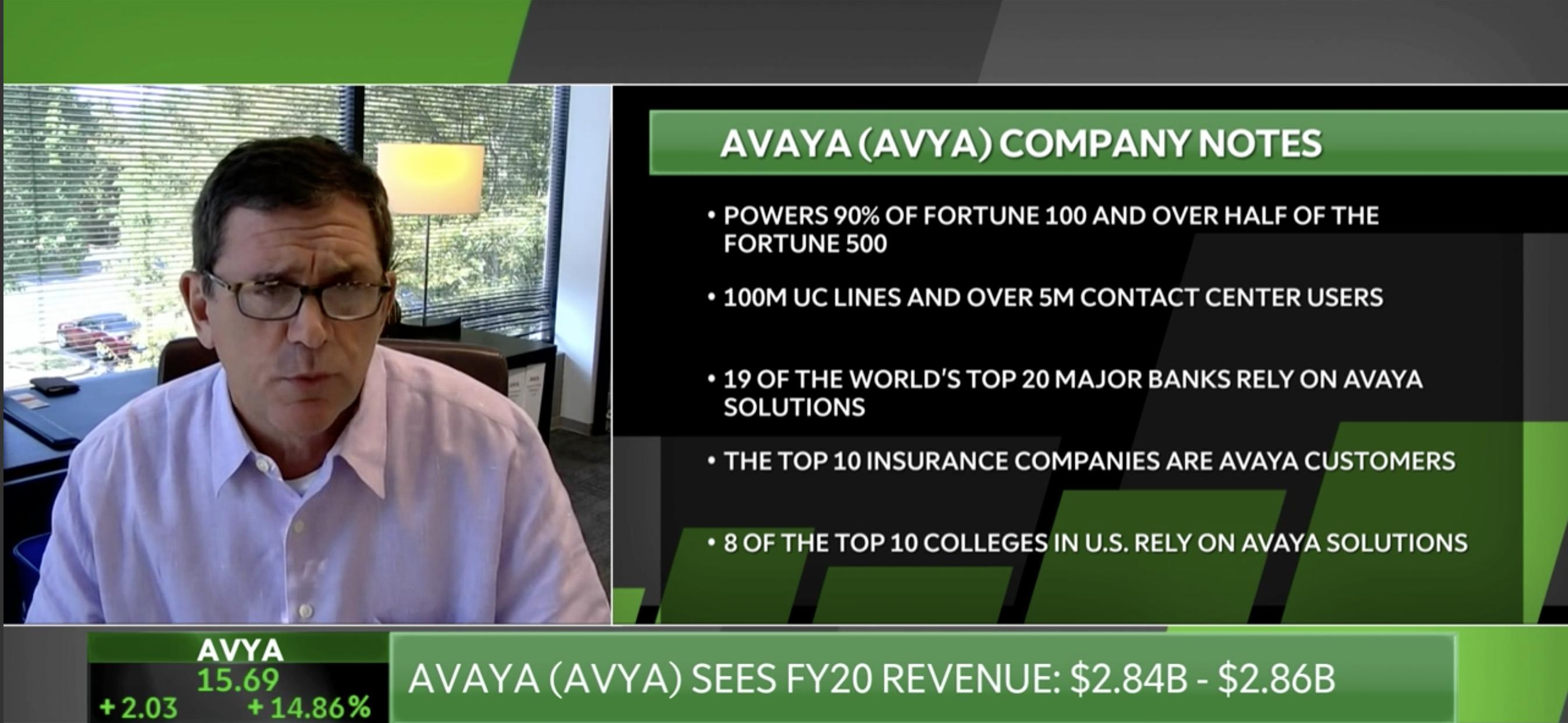 Avaya CEO Jim Chiricoon TDAmeritrade