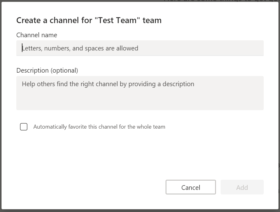 Microsoft Teams channel attributes