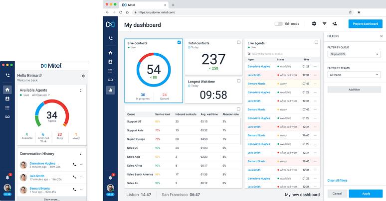 Mitel-branded version of Talkdesk Callbar app
