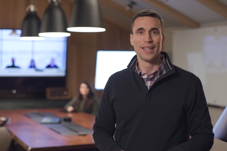 Jared Spataro, corporate VP of Microsoft 365, addresses the crowd at Enterprise Connect's virtual event, Communications & Collaboration: 2024.