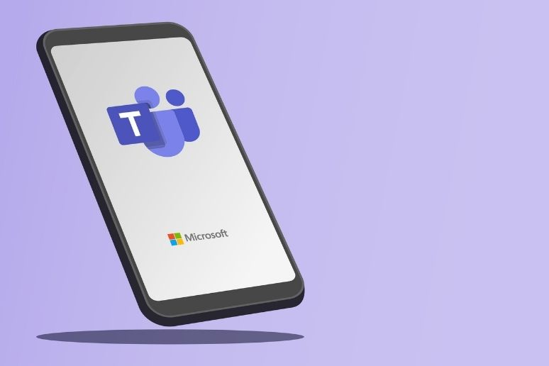 A smartphone with Microsoft Teams on it