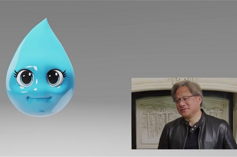 Picture of Nvidia CEO and Misty, the chatbot