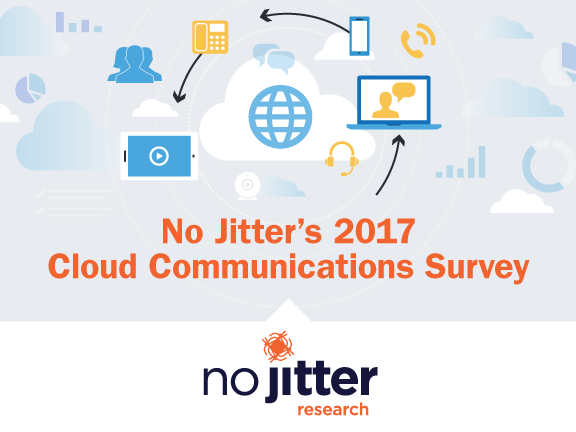 No Jitter 2017 Cloud Communications Survey cover slide