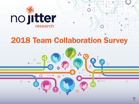 No Jitter Research 2018 Team Collaboration Survey cover slide