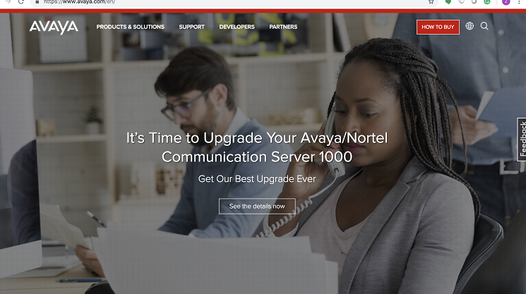 Avaya old website messaging