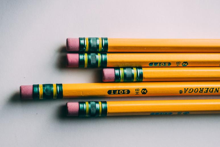 yellow no. 2 pencils