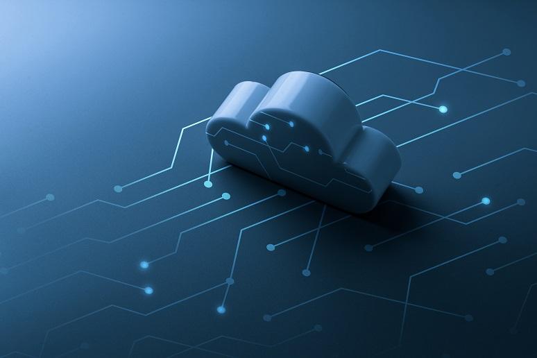A 3D cloud graphic