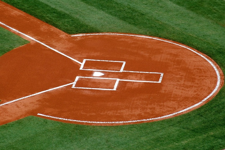Home plate baseball diamond
