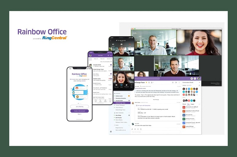 ALE Rainbow Office by RingCentral interfaces