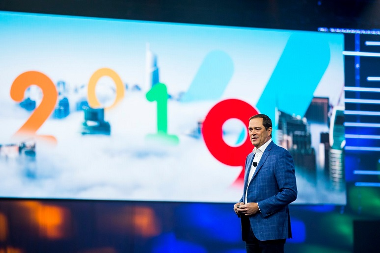 Cisco CEO Chuck Robbins at Cisco Live keynote