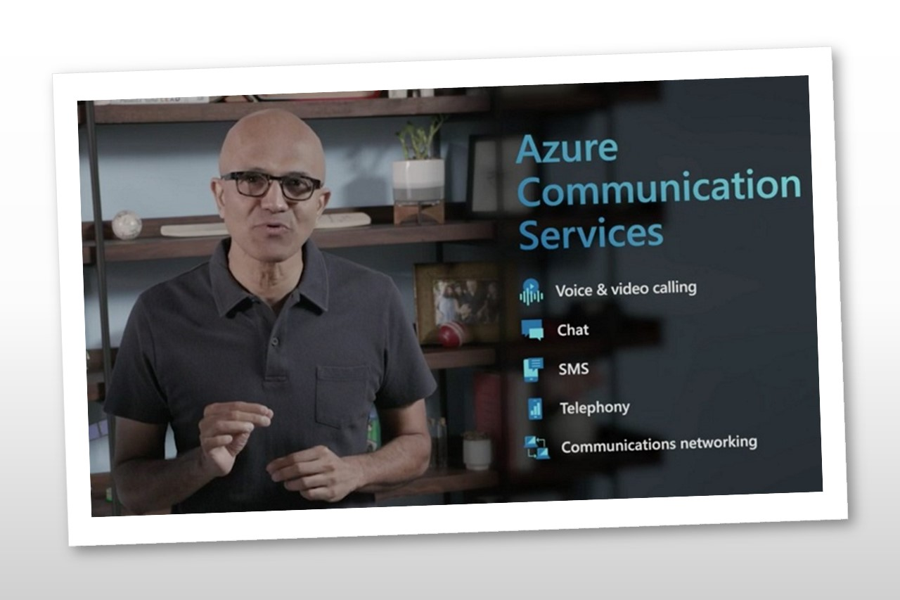 Satya Nadella, Microsoft CEO, introducing Azure Communication Services