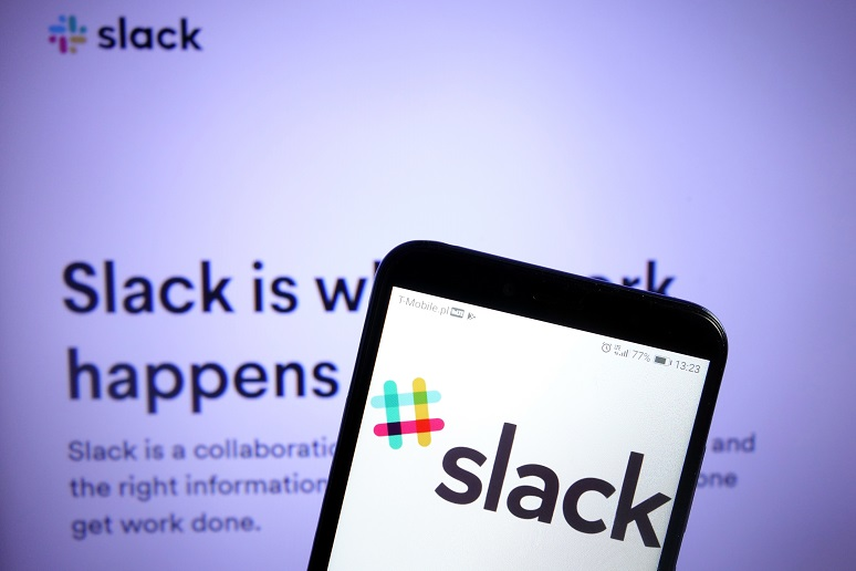 The Slack app on a phone