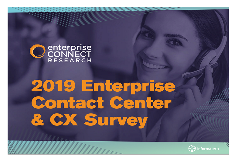 2019 Enterprise Contact Center & CX Survey Cover