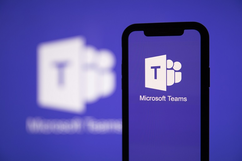 Microsoft Teams on a cellphone