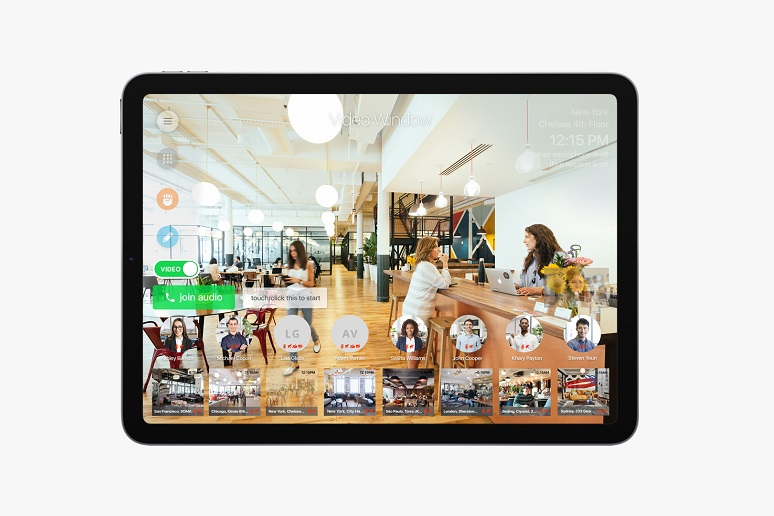 Collaboration Squared's Video Window Remote on a tablet