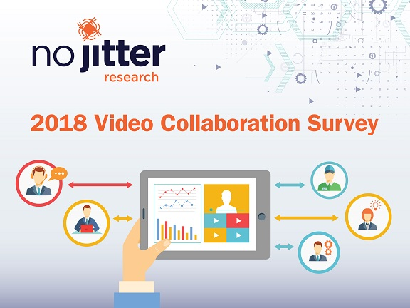 No Jitter Research 2018 Video Collaboration survey cover slide