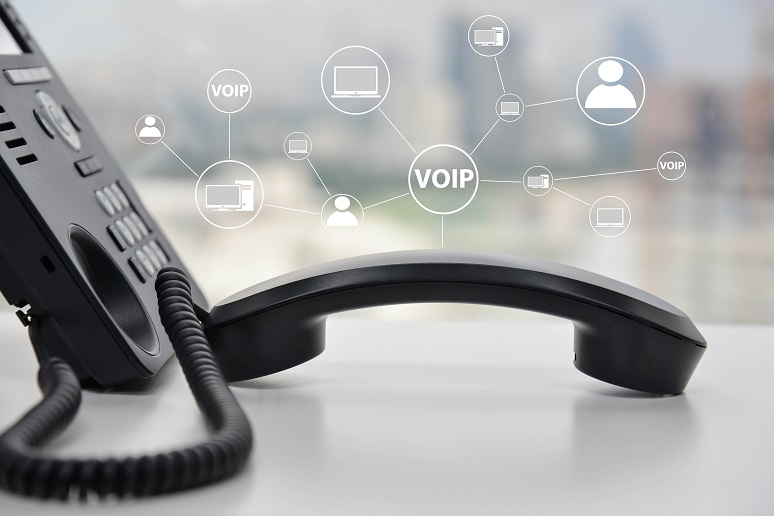 A VoIP phone off the hook