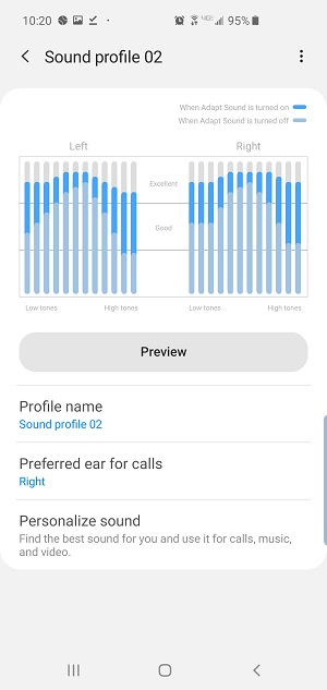 Samsung Adapt Sound sound profile